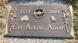 Eva <i>Atkins</i> Adams