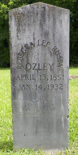 Rebecca Lee <i>Busby</i> Ozley