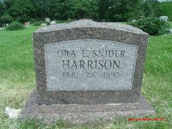 Ora E. <i>Snider</i> Harrison