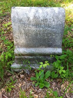 Infant daughter Behrens