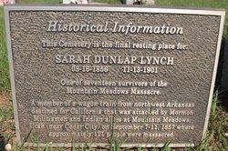 Sarah E. <i>Dunlap</i> Lynch