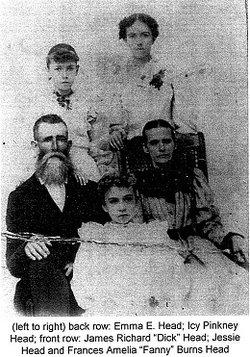 Frances Amelia Fannie <i>Burns</i> Head