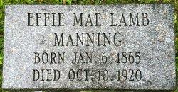 Effie Mae <i>Lamb</i> Manning