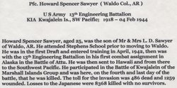 PFC Howard Spencer Sawyer