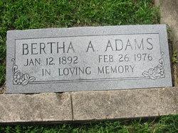 Bertha A Adams