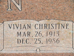 Vivian Christine <i>Adams</i> Yawn