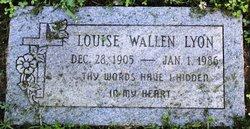Louise <i>Wallen</i> Lyon