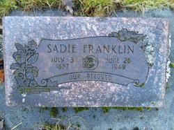 Sarah Naamah Sadie <i>Thompson</i> Franklin