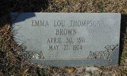 Emma Lou <i>Thompson</i> Brown