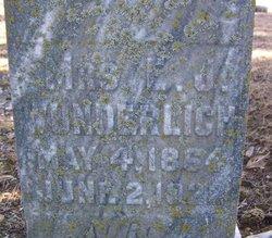 Mrs Emily Jane <i>Butler</i> Wunderlich