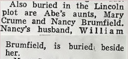 Mary Ada <i>Lincoln</i> Crume