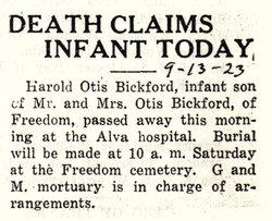Harold Otis Bickford