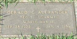 Gerald C Alexander