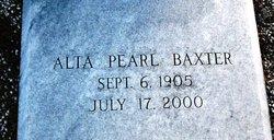 Alta Pearl <i>Webb</i> Baxter