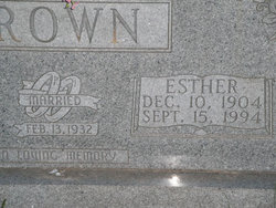 Esther <i>Thompson</i> Brown