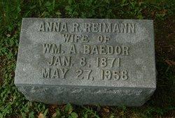 Anna R <i>Reimann</i> Baedor
