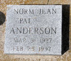 Norma Jean Pat <i>Allie</i> Anderson