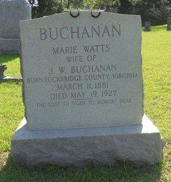 Marie <i>Watts</i> Buchanan