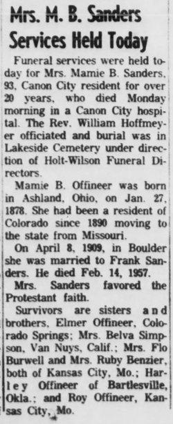 Mamie B. Sanders