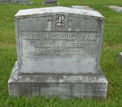 Olivia Lloyd Ollie <i>Magruder</i> Pace