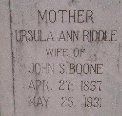Ursula Ann <i>Riddle</i> Boone