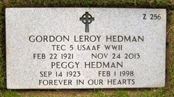 Peggy <i>Kelly</i> Hedman