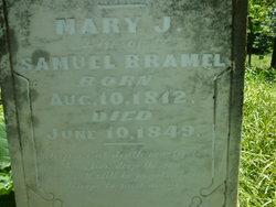 Mary J <i>Calvert</i> Bramel
