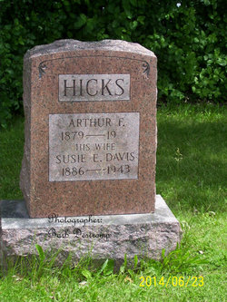 Susan Elizabeth <i>Davis</i> Hicks