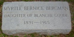 Myrtle Bernice <i>Bisbee</i> Bergman