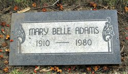 Mary Belle <i>Brown</i> Adams