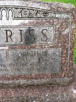 Ruth E. <i>Lindsay</i> Burriss