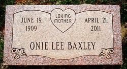 Onie Lee <i>Proffitt</i> Baxley