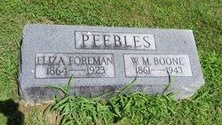 Eliza <i>Foreman</i> Peebles