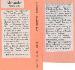 Ruby Charlene <i>Ray</i> Alexander