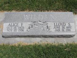 Alice F <i>Green</i> Wilder