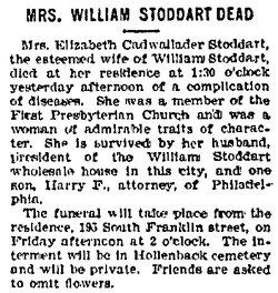 Elizabeth <i>Cadwalader</i> Stoddart