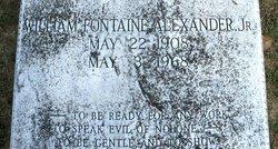 William Fontaine Alexander, Jr