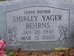 Shirley Ann <i>Hankins, Yager</i> Behrns