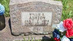 Willie Ernest Ashton