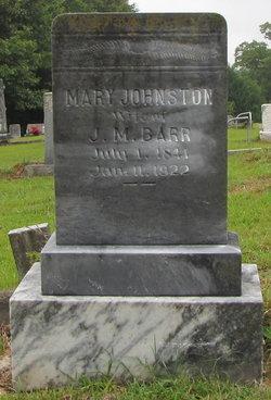 Mary <i>Johnston</i> Barr