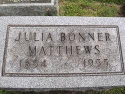 Julia <i>Bonner</i> Matthews