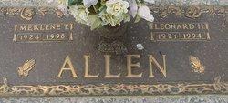 Leonard H Allen