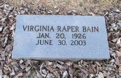 Virginia <i>Raper</i> Bain