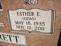 Esther Elizabeth <i>Ozias</i> Jarrett