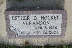 Esther Doris <i>Hockel</i> Abramson