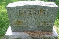 Martha Mattie <i>Mudd</i> Barker
