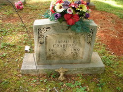 Sarah Belle <i>Dailey</i> Crabtree
