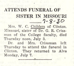 Mary Elizabeth Bettie <i>Crissman</i> Childers