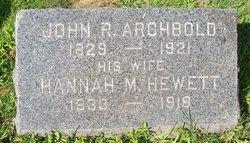 Hannah <i>Hewett</i> Archbold