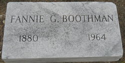 Fannie <i>Gilliam</i> Boothman